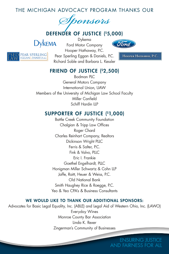 michigan advocacy program u2019s 50th anniversary celebration